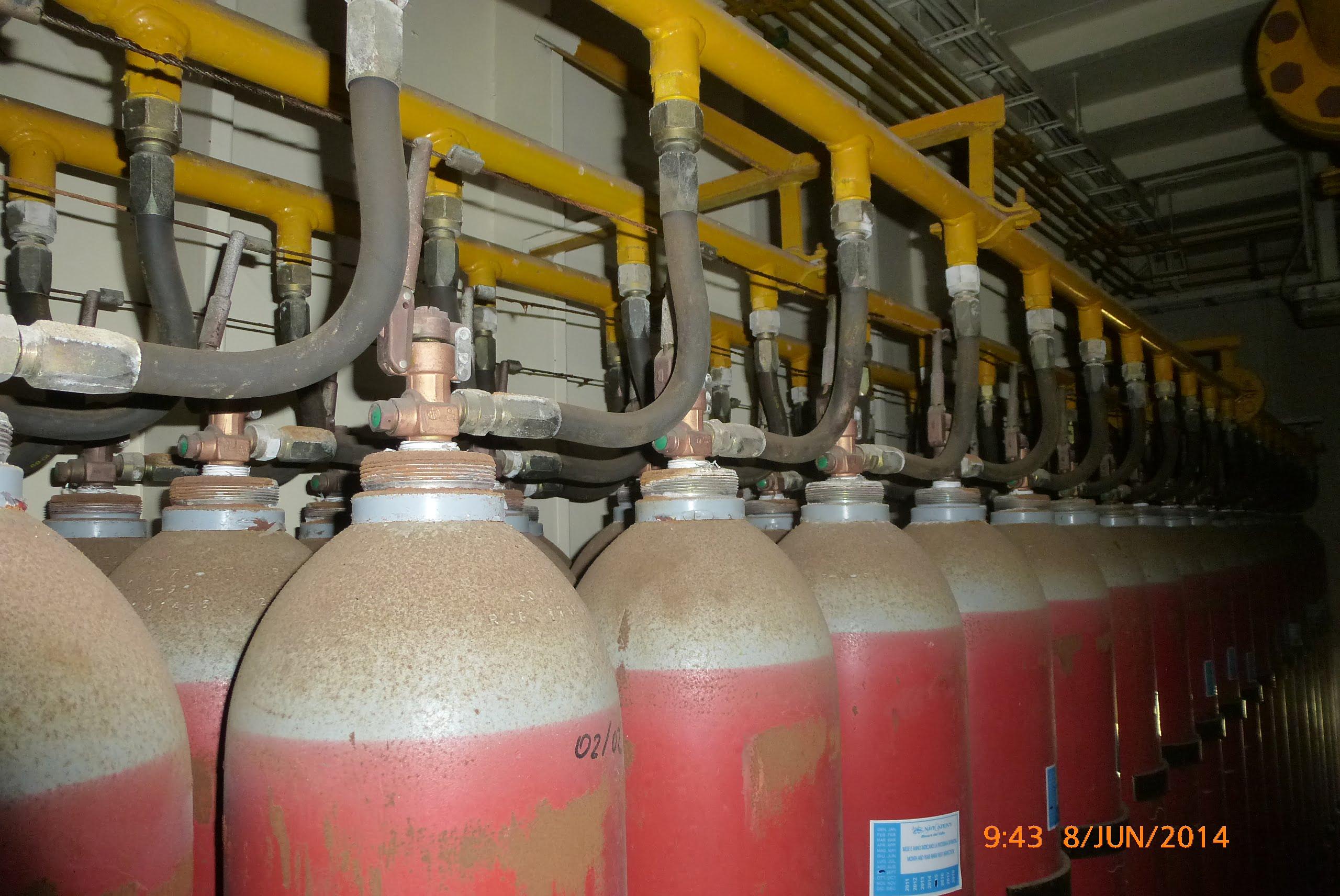 shipboard CO2 fire suppression systems