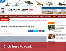 Somerset Company Secures Indian Navy Deal - 3rd January 2019 - Defence Aviation Post