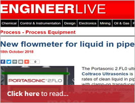 "Engineer LIVE Publishes ""new Flowmeter For Liquid In Pipes"" - 18th October 2018"