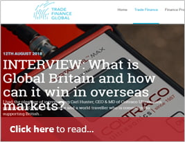 Featured On The Newly Launched Exporter Hub For Trade Finance Global - 13 August 2018