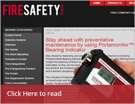 Portamonitor™ Bearing Indicator In Fire Safety Search January 2016