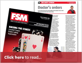 Fire Security Matters - CEO's Regular Column 'Doctor's Orders' Pg 16.