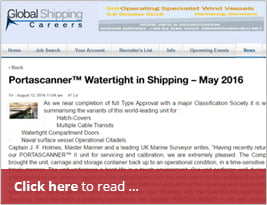 [Editorial] Global Shipping Careers - Portascanner™ Watertight