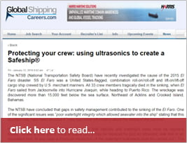 Global Shipping Careers Publish Protecting Your Crew: Using Ultrasonics To Create A Safeship