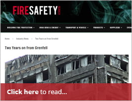 Fire Safety Search Publishes Article Titled 'Two Years On From Grenfell' - April 2019