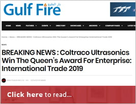 Gulf Fire Shares Coltraco Ultrasonics Win The Queen's Award For Enterprise - 23 April 2019