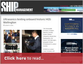 Ship Management International Shares Testing Onboard HQS Wellington - 14 Aug 2019