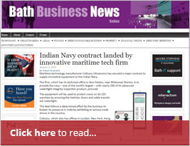 Indian Navy Contract Landed By Innovative Maritime Tech Firm - 4th January 2019 - Bath Business News