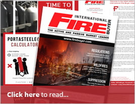 International Fire Buyer - Advertising Portasteele CALCULATOR On Inside Front Cover - July 2018