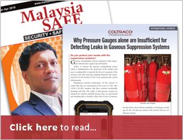 Malaysia Safe Publishes Article About Why Pressure Gauges Alone Are Insufficient For Detecting Leaks In Gaseous Suppression Systems - April 2019