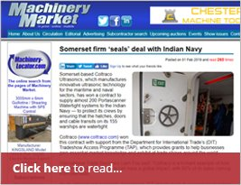 Somerset Firm 'seals' Deal With Indian Navy - 1st February 2019 - Marine Industry News