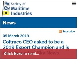 Society Of Maritime Industries Alert About Sky News & Export ChampionColtraco CEO Asked To Be A 2019 Export Champion And Is Interviewed By Sky News