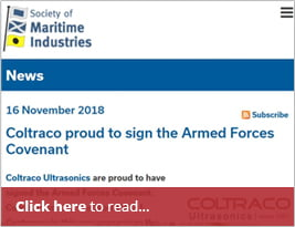 Society Of Maritime Industries Alert Publishes Covenant Pledge - 19 Nov 2018