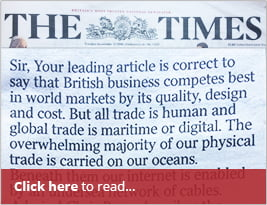 CEO In National Press - 'The Times' Publishes Letter About The 'New Royal Yacht' As A Remedy To The 'sea Blindness' In The UK And Will 'enrich The Human Understanding Of Our Global Partners In Our Country - 13th November 2018