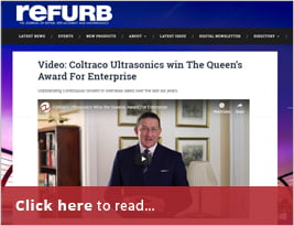 Refurb Project Shares Coltraco Ultrasonics Win The Queen's Award For Enterprise - 23 April 2019