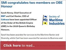 SMI Publish OBE NewsMarine Leaders Win Queen's Honours - 13 June 2019