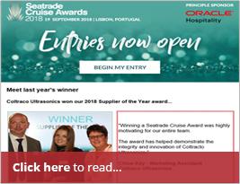 Seatrade Cruise Awards Commemorate Coltraco's 2017 Win In Newsletter - 11 June 2018