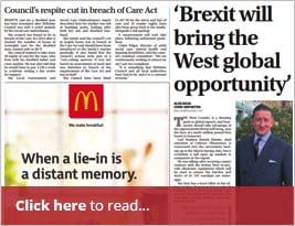 Western Daily Press Interview CEO Carl Hunter About Exporting And Post Brexit Opportunities - 26 Jan 2019