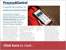 Process & Control Publish Ammonia Monitoring Solution In September Issue.