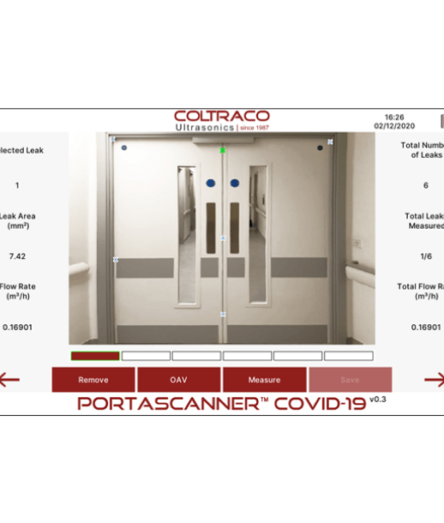 Portascanner COVID-19 ward results