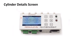 Permalevel Featherweight cylinder details screen