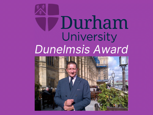 Carl Hunter OBE Dunelmsis Award Durham University