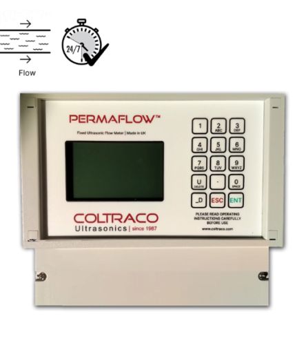 Permaflow fixed clamp-on ultrasonic transit time flow meter and heat meter